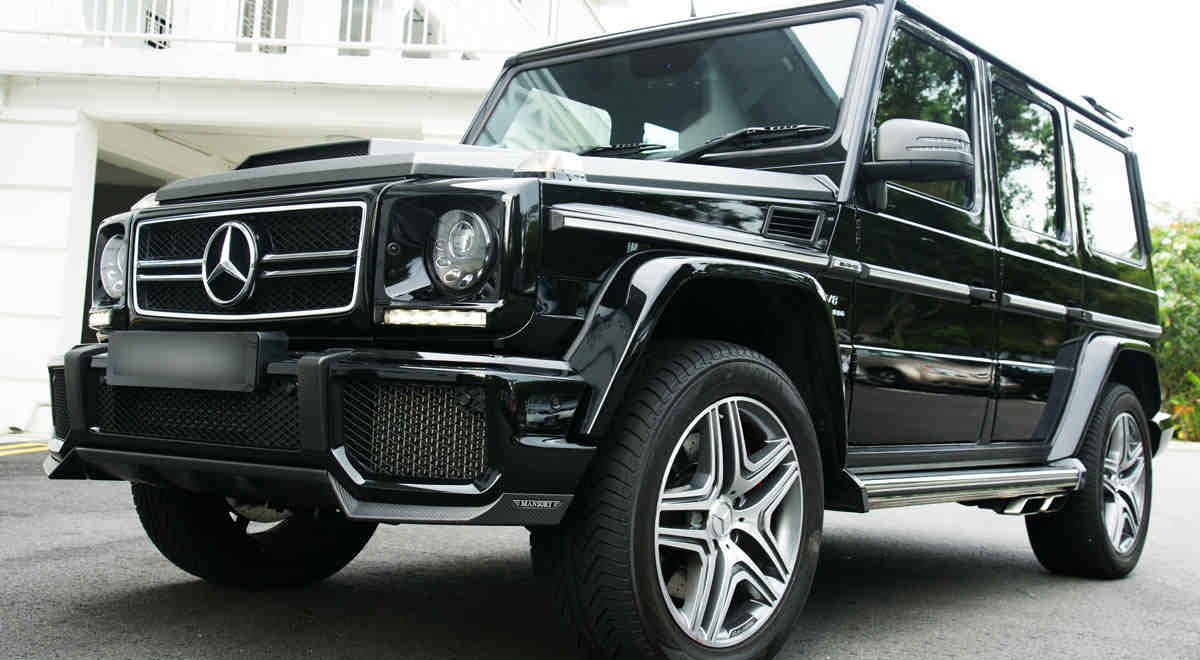 Mansory exhaust system and exhausttip for mercedes benz g for Mercedes benz g class parts