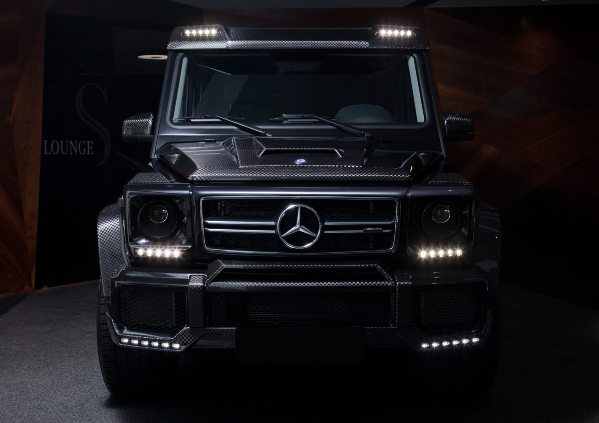 Carbon fiber front add on lip spoiler for g class w463 for Mercedes benz g500 parts accessories