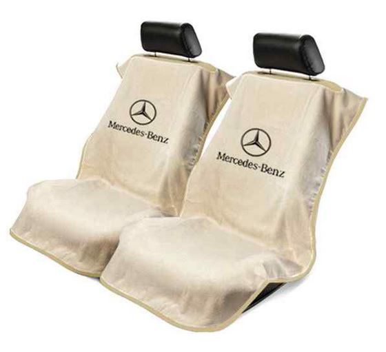 Seat armour towel seat cover with mercedes logo for for Seat covers for mercedes benz c class