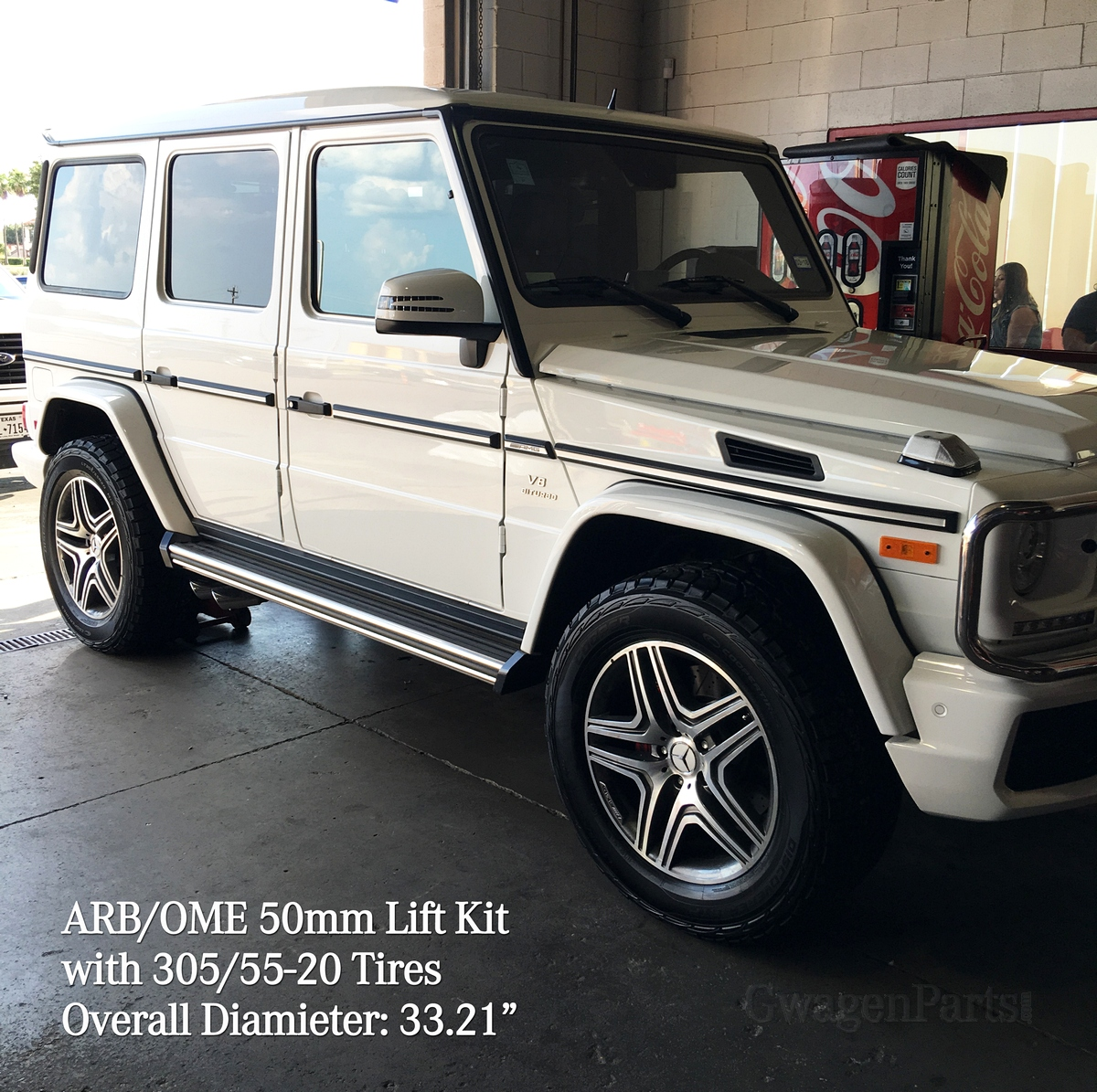 Mercedes g class w463 arb ome 50mm lift kit no front for Mercedes benz g500 parts accessories