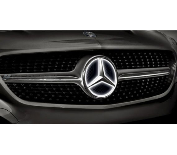 Illuminated led mercedes benz star for Mercedes benz led star