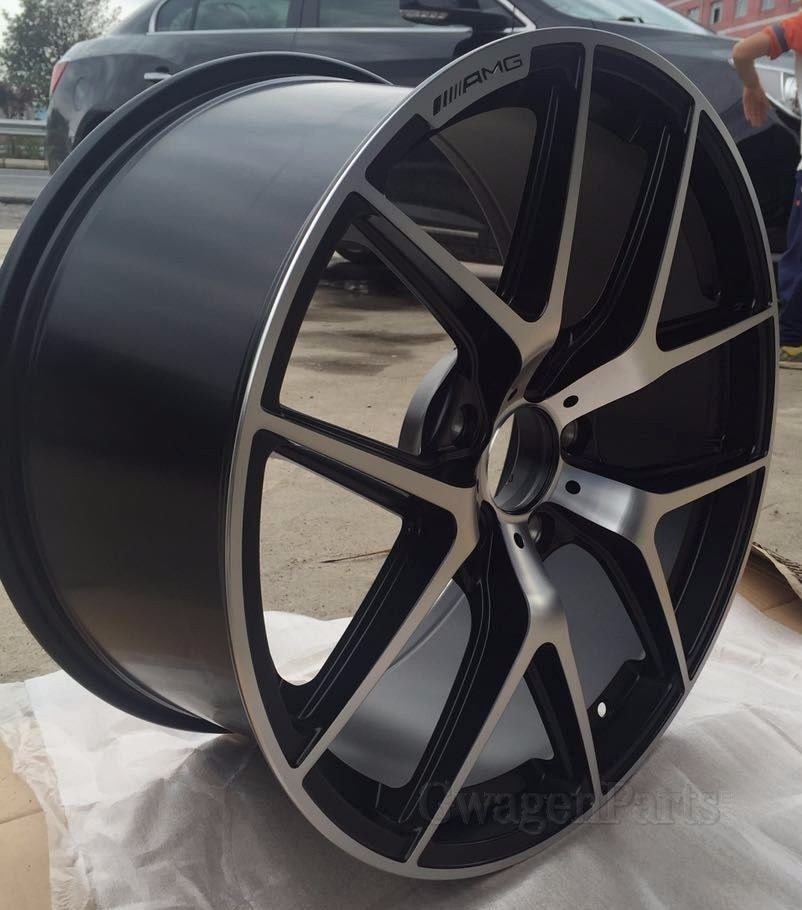 Mercedes AMG-style 21x10 et 50 in Machined/Satin Black for ...