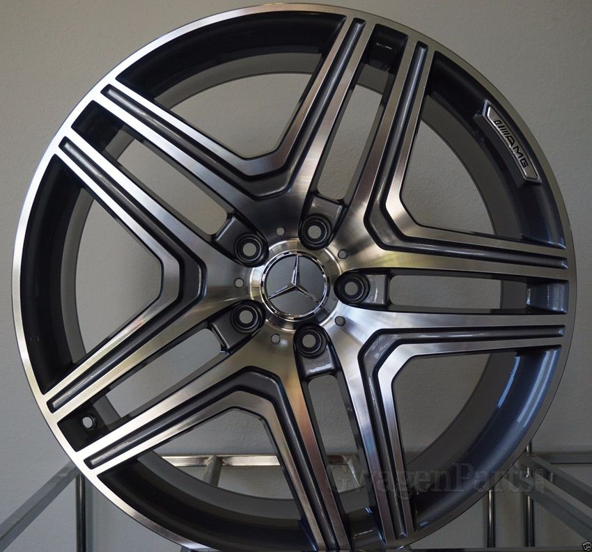 Mercedes AMG-style 22x10 et 48 in Machined/Gunmetal for G ...